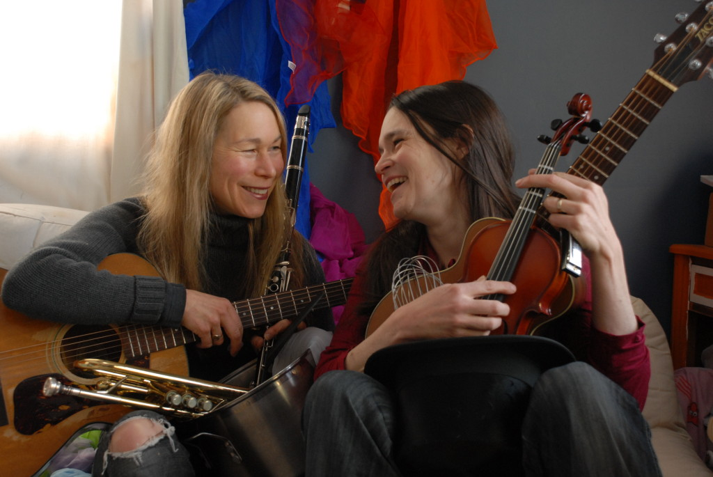 Nerissa and Katryna making music for families